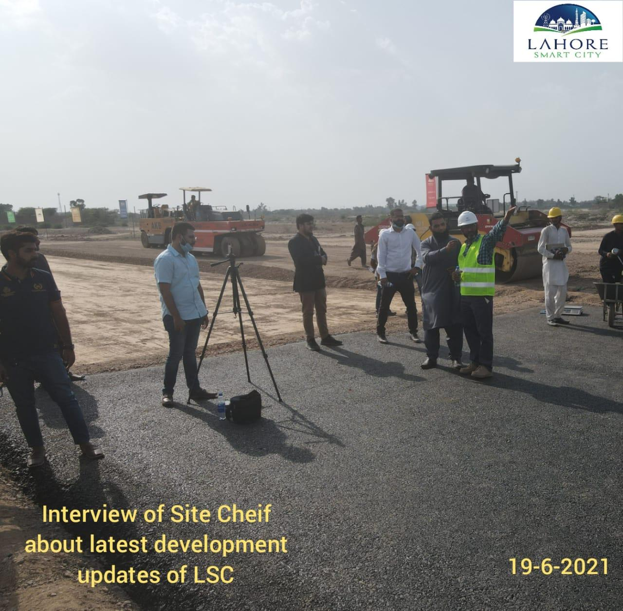 Interview of site cheif about latest development updates of LSC